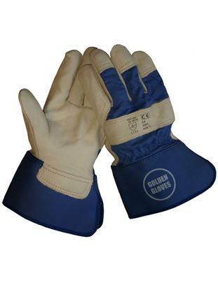 Afbeeldingen van Werkhandschoen Boxleder Golden Glove | maat 10 (L)